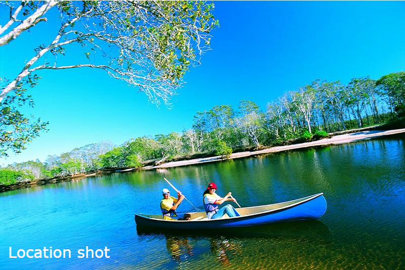 Creek location shot