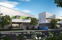 Oceania North green facade artist impression