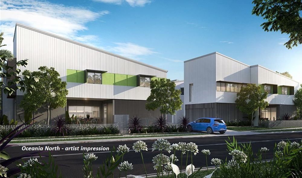 Oceania North green facade artist impression