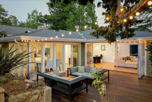Creating a backyard entertaining area