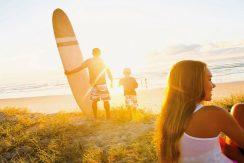 Surfboard sun