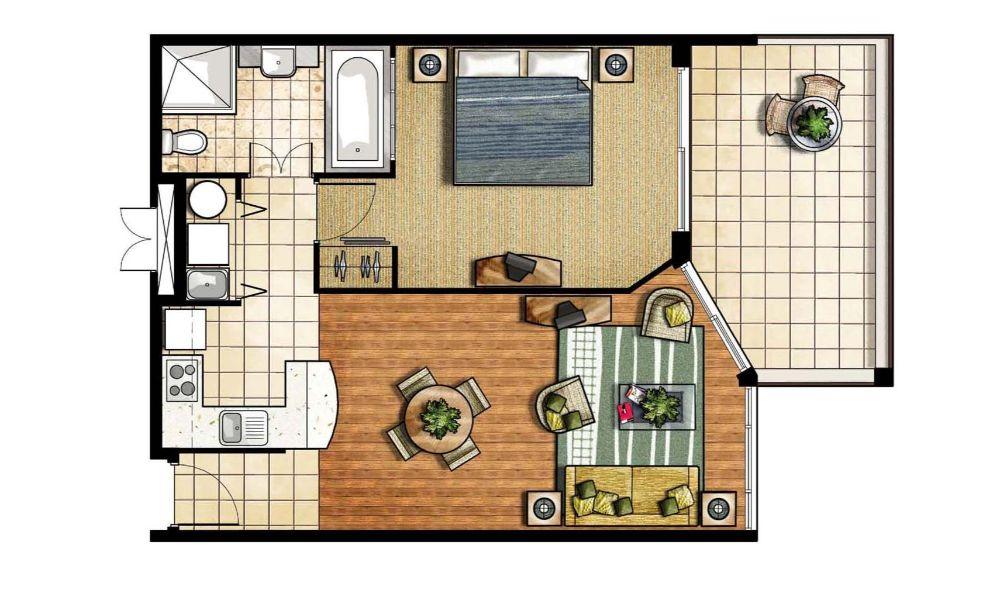 Floor Plan Unit 1D