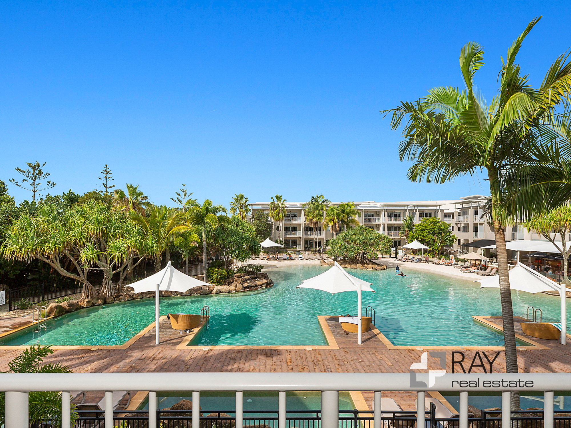Lot 86 (6217/18) Peppers Resort – North east facing over central lagoon pool, 2-bedroom (dual key) apartment
